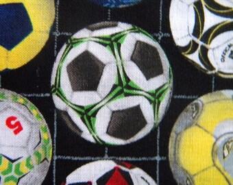 Sports--Soccer ball fabric--by the yard--Elizabeth's Studio