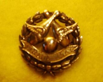 Pin, Brass, Bowling award, 1943