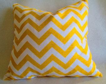 READY TO SHIP Ships in 1-2 days Chevron Decorative throw pillow cover cornmeal yellow white zigzag throw pillow case