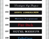 100 custom woven clothing labels, name tags -black- 100% cotton