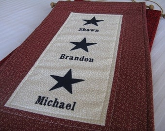 3-Star Service Flag with Customized Names Embroidered