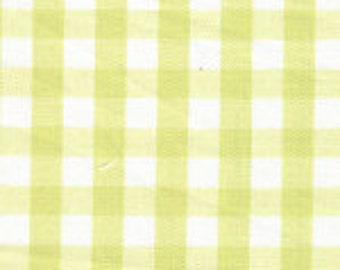 "HALF YARD 1/4"" CHARTREUSE Fabric Finders Gingham"