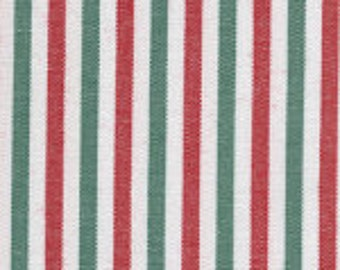 Red and Green Fabric Finders Stripe