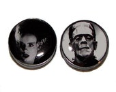 Frankenstein's Monster and His Bride Plugs - 1 Pair - Sizes 8g to 2""