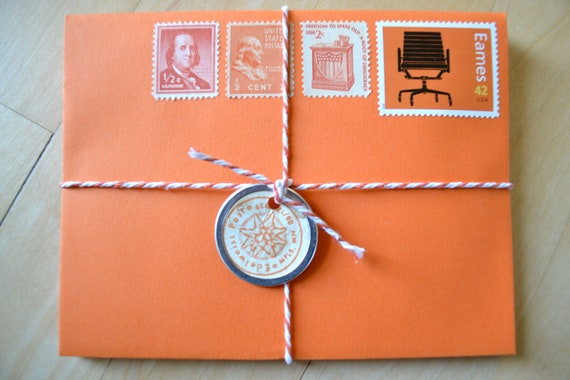 Orange Stationery
