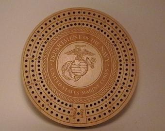 Military Logo Cribbage Board