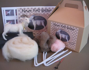 Goat Needle Felting Kit