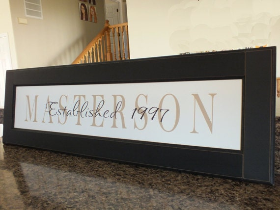 Personalized Picture Frame With Family Name Quote Family: Personalized Family Name Sign Name Frame 13x42