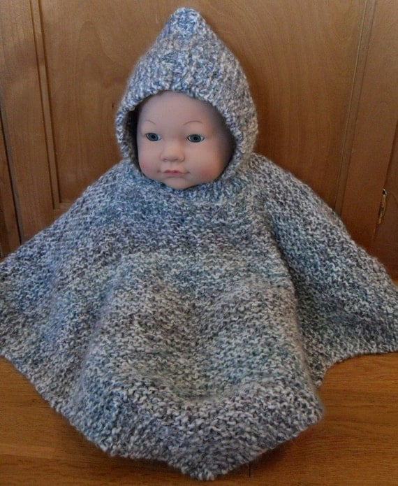 Items Similar To Pattern Hooded Baby Poncho Size 6