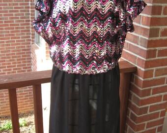 Kelli Kaye Sequin Top Dress/Free shipping U.S.