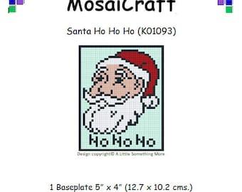 MosaiCraft Pixel Craft Mosaic Art Kit 'Santa Ho Ho Ho' (Like Mini Mosaic and Paint by Numbers)