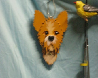 Wooden dog Wind chimes, dog heads for wind chimes