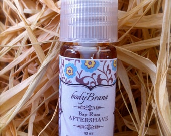 BAY RUM Aftershave, All Natural and Hand-Made--trial size