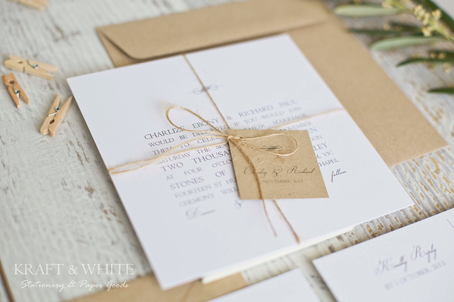 wedding invitation twine - 28 images - rustic country wedding ...