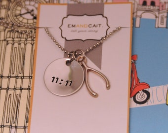 Lucky Day, Wish, 11:11, Good Luck, Wish Necklace