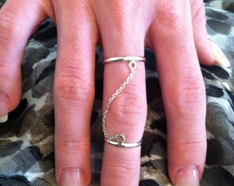 Sterling Silver Chain Ring - Valentine