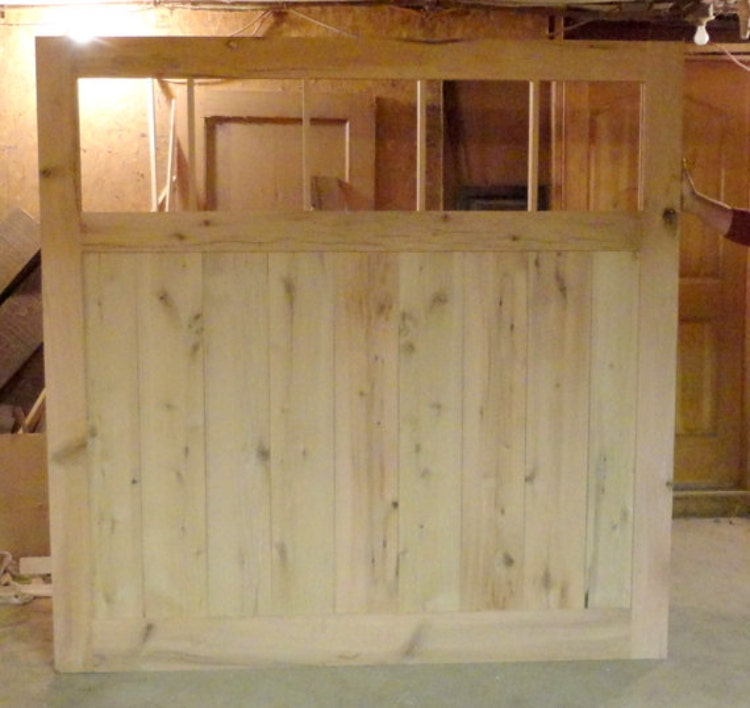 Large barn door room divider made to order by for Barn door room divider