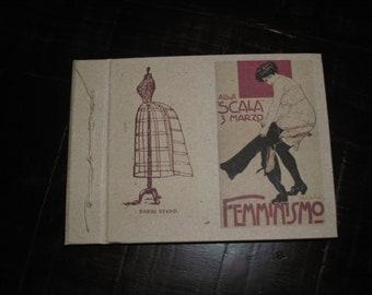 Handmade notebook- recicled kraft paper-  shabby,vintage, retro, country-