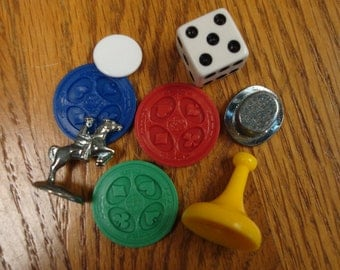Board Game Pieces for Jewelry & Other Art