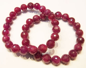 11mm Round Cut AAA Grade Ruby Beads Genuine Natural Bracelet 15''L Semiprecious Gemstone Bead Wholesale Beads Supply