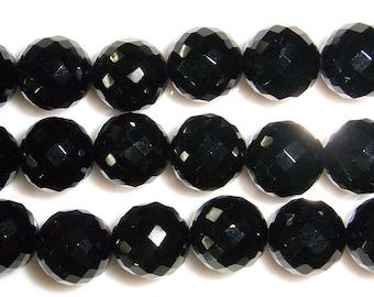 Agate Bead Natural Genuine 10mm Round Cut Black 15''L Semiprecious Gemstone Bead Wholesale Beads Supply