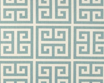 Sale Greek Key Fabric Premier Prints Towers Village Blue Fabric By The Yard Fast