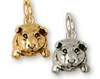 Solid Sterling Silver Guinea Pig Charm - GP10C