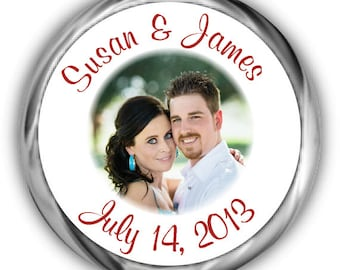 Photo Personalized Wedding Hershey Kisses Stickers