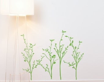Spring Branches - Wall Decal - Green