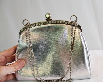 PRICE REDUCED! Vintage Silver Lame Clutch