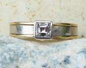 Solitaire diamond engagement ring platinum diamond engagement ring 0.50ct