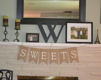Sweets Burlap Banner
