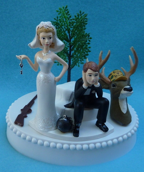 hunting themed wedding cake toppers wedding cake topper deer rifle themed by wedset 16212