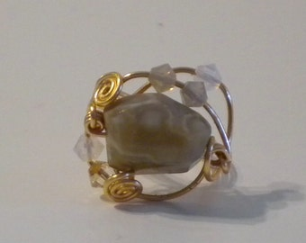 Agate stone Ring