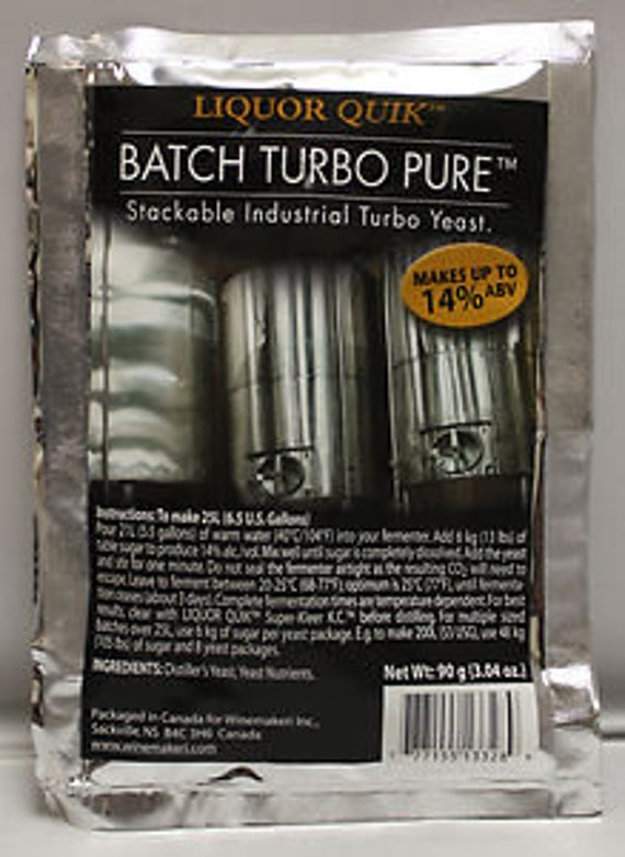 Liquor Quik Batch Turbo Pure Stackable Industrial Turbo Distilling Yeast For Making Home Crafted Spirits