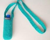 Handmade Crochet water bottle holder/ cozy/ carrier