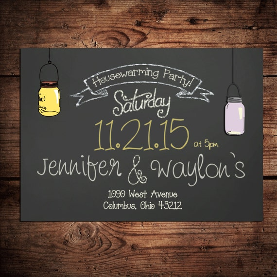 Items similar to housewarming party invitation on for What to bring to a house warming party