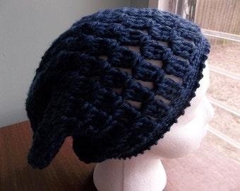 Lightweight Crochet Slouchy Beanie.