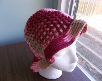 Crochet Cotton Mesh Summer Hat