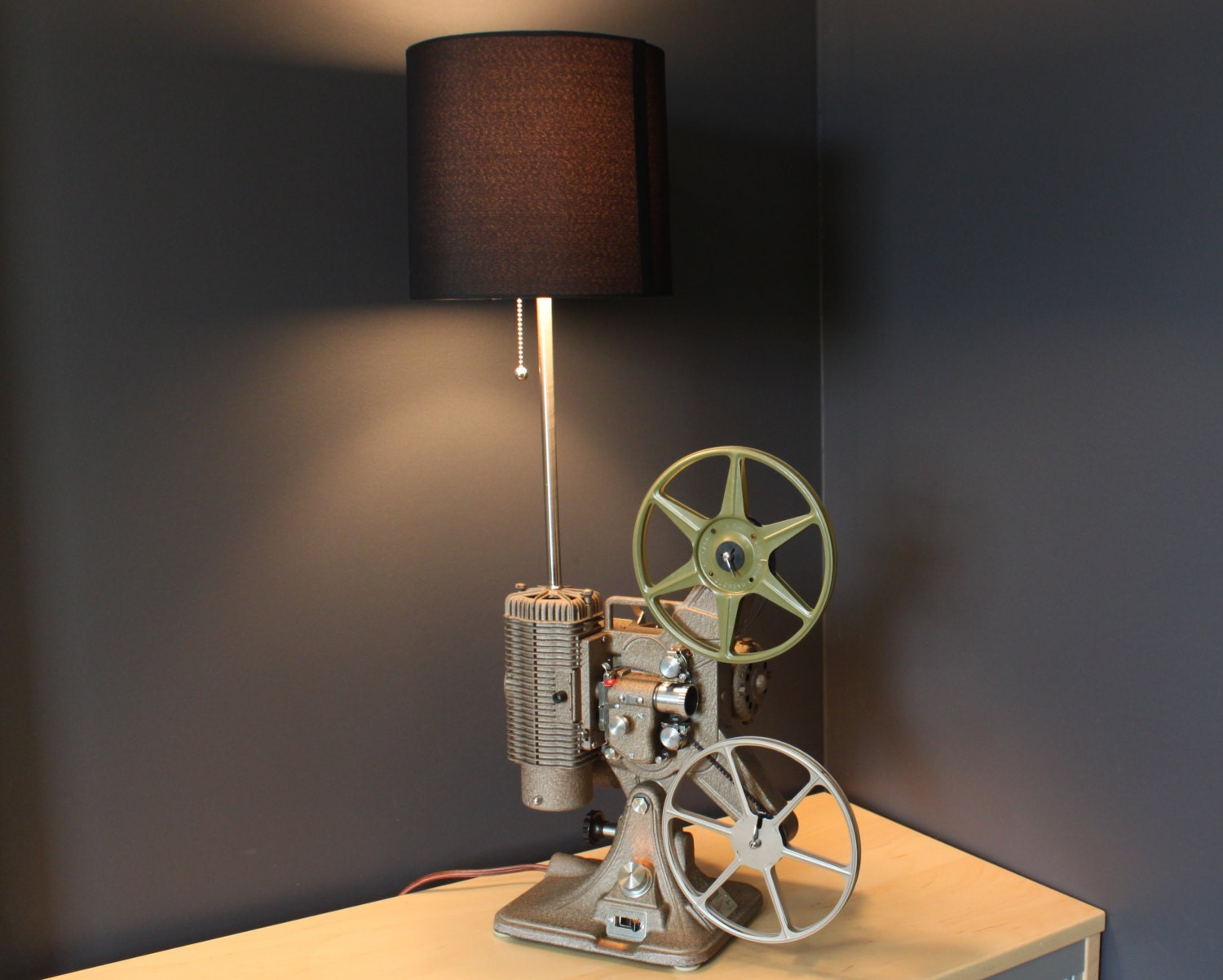 Home Theater Decor Movie Projector Table Lamp