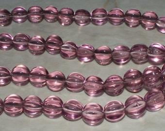 26 Czech Lavender Fluted Glass -  8MM