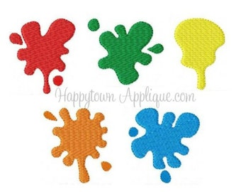 Paint Splatters Machine Embroidery Design