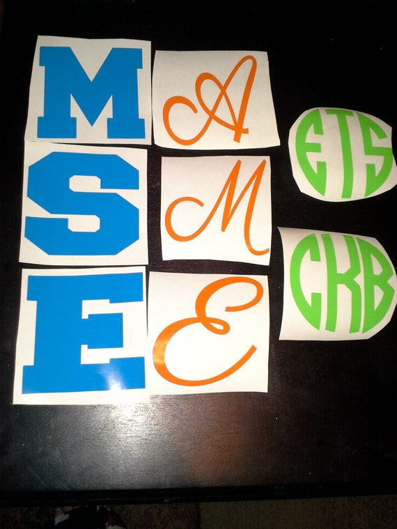 4 inch vinyl letters numbers and circle monogram by With 4 inch vinyl letters and numbers