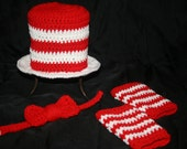 dr.suess inspired boys crochet prop, boys crochet dr. suess set, boys photo prop,boys gift set - LGCrochet