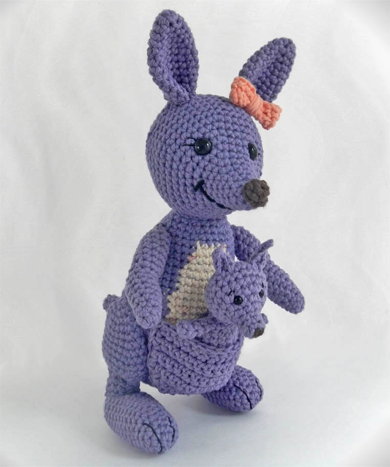 Amigurumi Baby Free Pattern : Amigurumi pattern for crochet toy kangaroo by