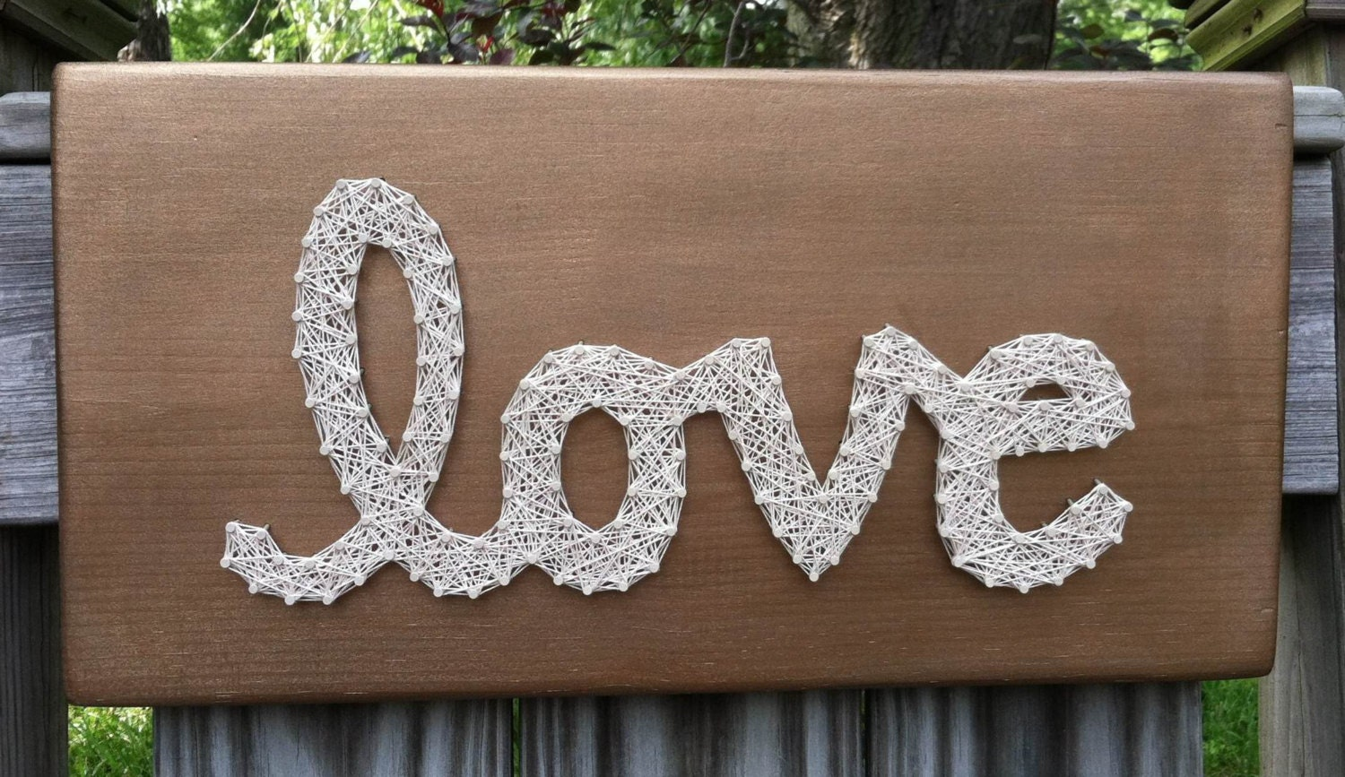 MADE TO ORDER: Bronze love string art Wall by JOCoriginalcreations