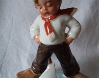 Vintage Ceramic Sailor Boy Ornament