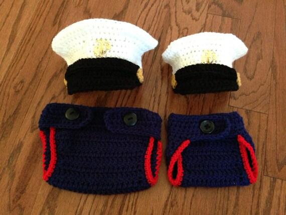 Crochet Baby Marine Hat Pattern : Crochet Marine dress WITHOUT lapel pin by CrochetbyDestinee