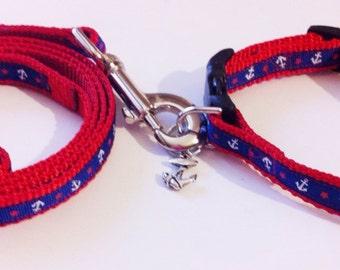 Nautical leash &collar combo