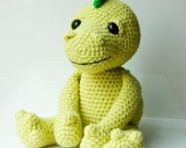 Amigurumi dragon dinosaur pattern crocheted soft toy plush pattern diy instant download PDF file